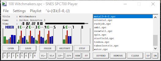 SNES SPC700 PLAYER (spcplay) by - Tools - SMW Central